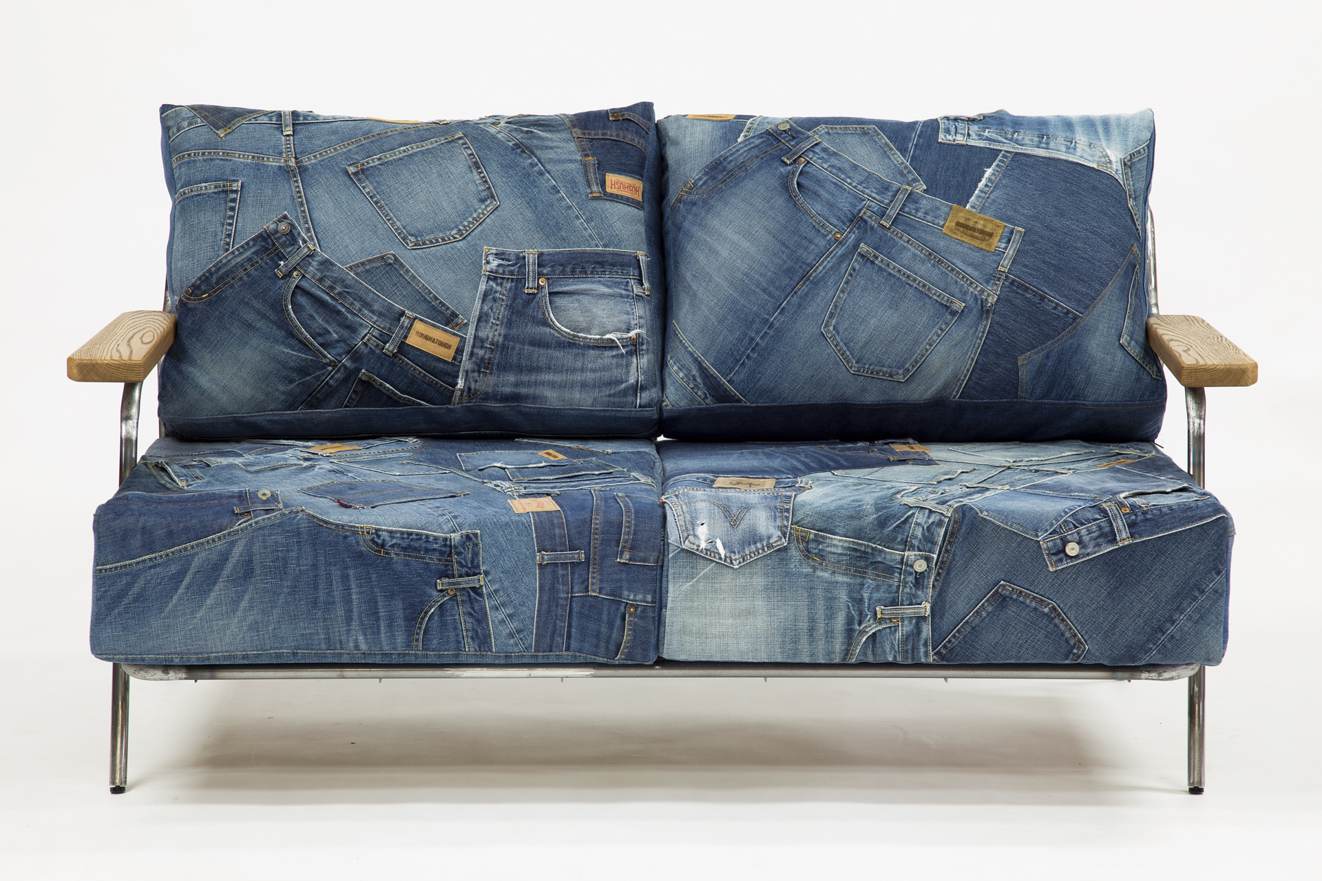 Denim Sofa Bench