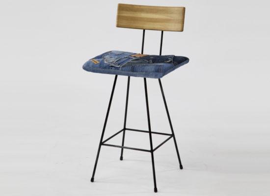 Bar Chair 01 Denim Oak