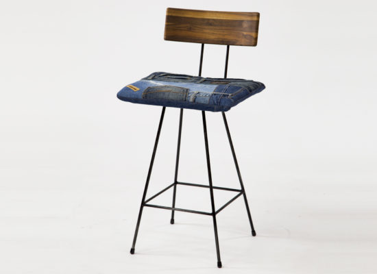 Bar Chair 01 Denim Walnut