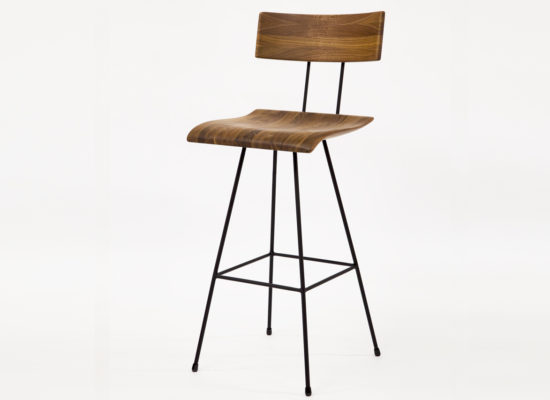 Bar Chair 02 Walnut