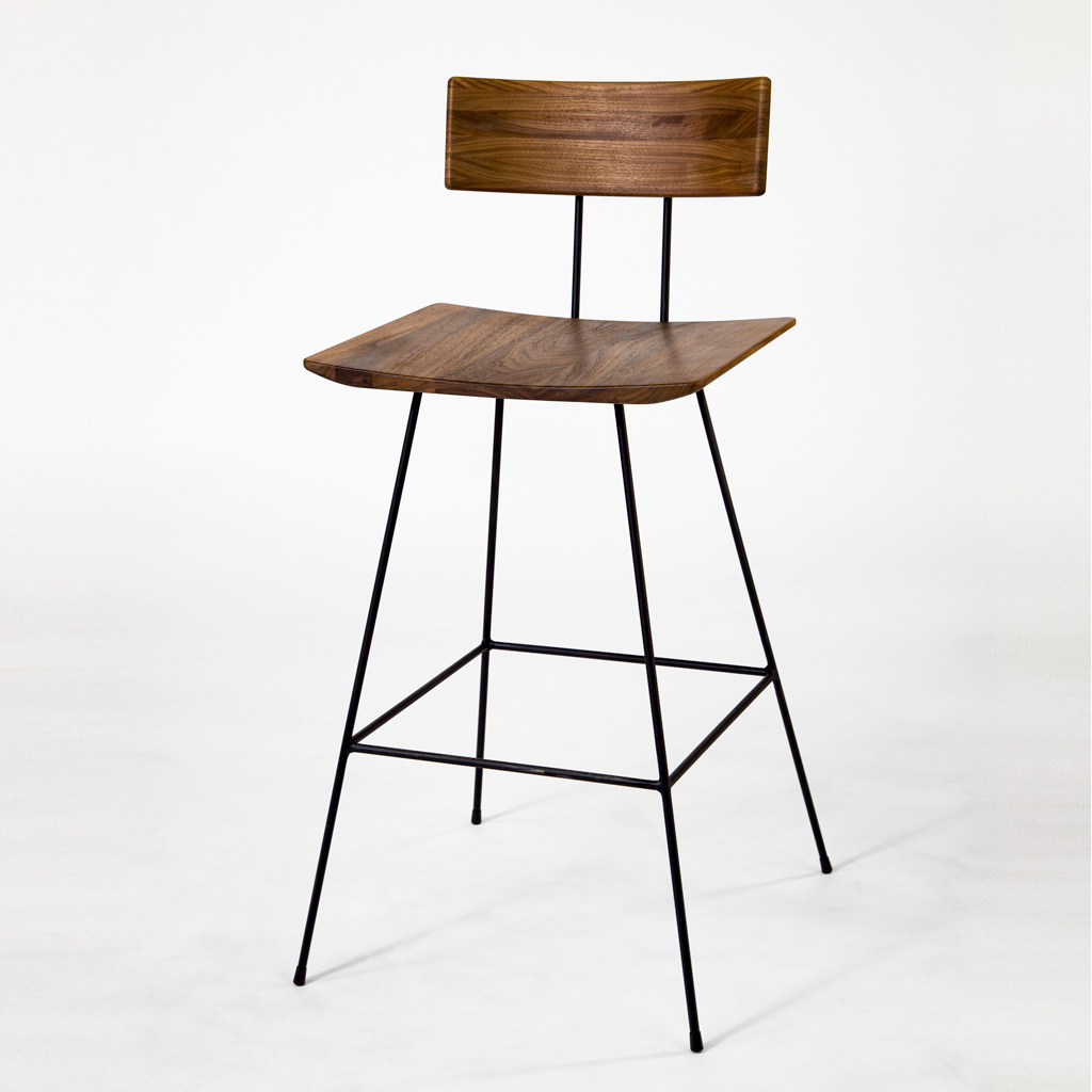 GENE Bar Chair 01 Walnut