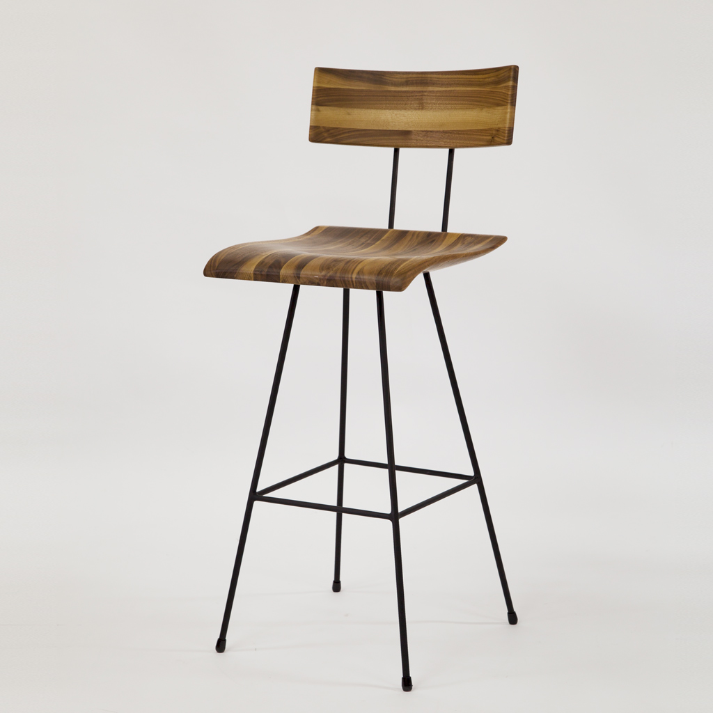 GENE Bar Chair 02 Walnut Mix