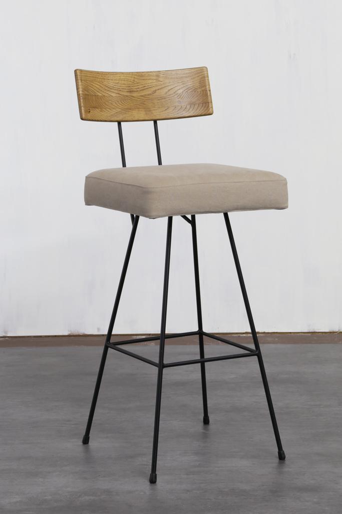 背板:オークLBR / 座面:Canvas Mushroom